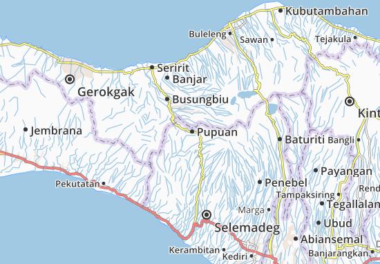Pupuan Map