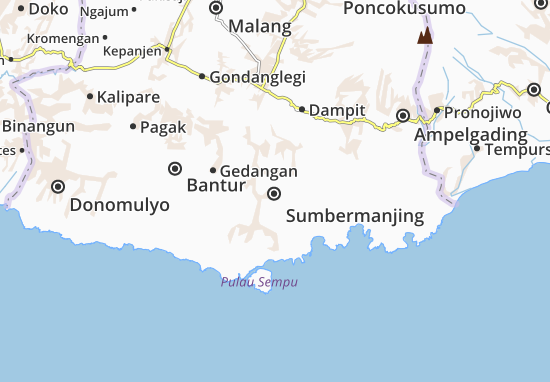 Sumbermanjing Map