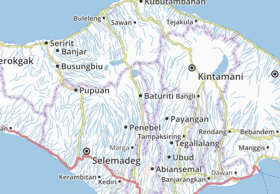Baturiti Map