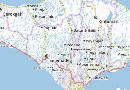 Penebel Map