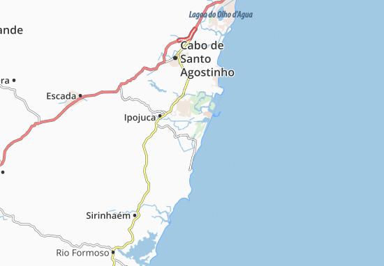 Map Of Cupé Michelin Cupé Map ViaMichelin - Cabo de santo agostinho map