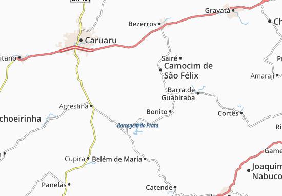 São Joaquim do Monte Map