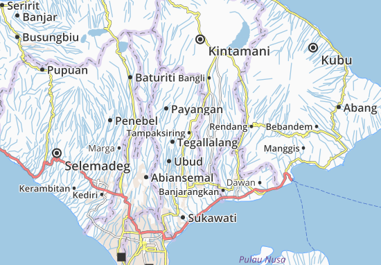 Tampaksiring Map
