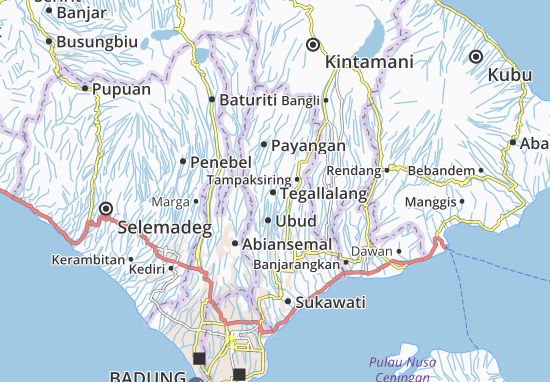 Tegallalang Map