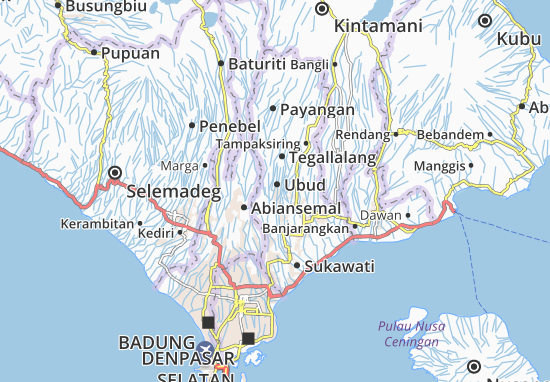 Carte Routiere Ubud Bali.Carte Detaillee Ubud Plan Ubud Viamichelin