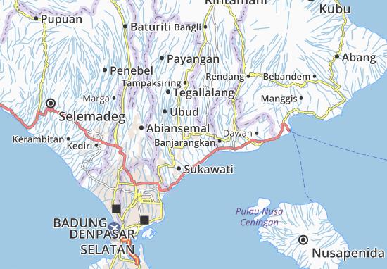 Carte-Plan Gianyar