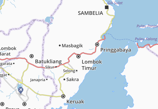 Mapas-Planos Lombok Timur