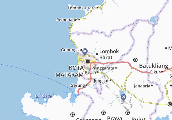 Kaart Plattegrond Mataram