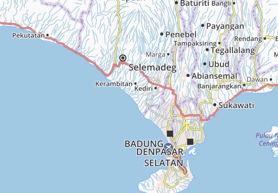 Carte Bali Serangan.Bengkel Map Detailed Maps For The City Of Bengkel Viamichelin