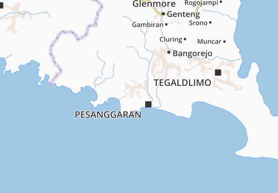 Pesanggaran Map