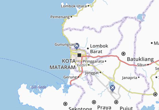 Kaart Plattegrond Kota Mataram