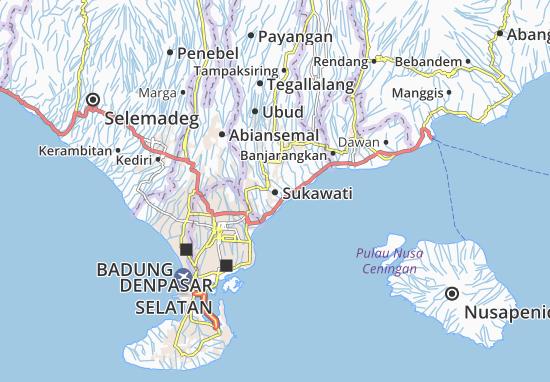 Kaart Plattegrond Sukawati