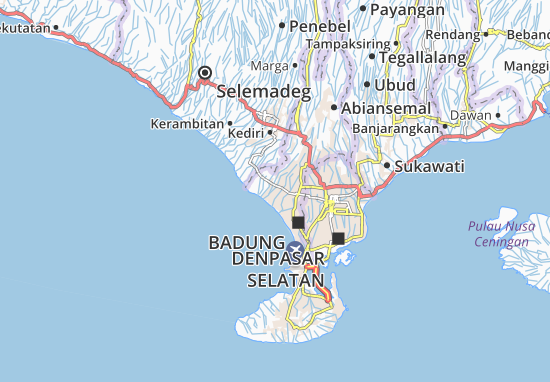 Bali Karte Canggu.Karte Stadtplan Canggu Viamichelin