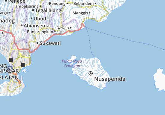 Nusapenida Map