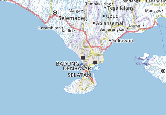 Map Of Kuta Michelin Kuta Map Viamichelin