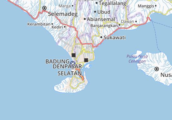 Denpasar Selatan Map