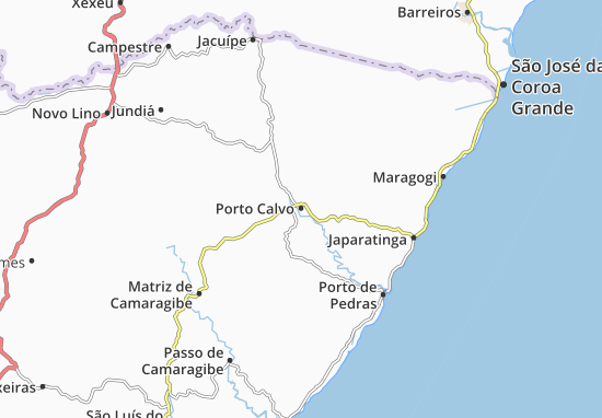 Carte-Plan Porto Calvo