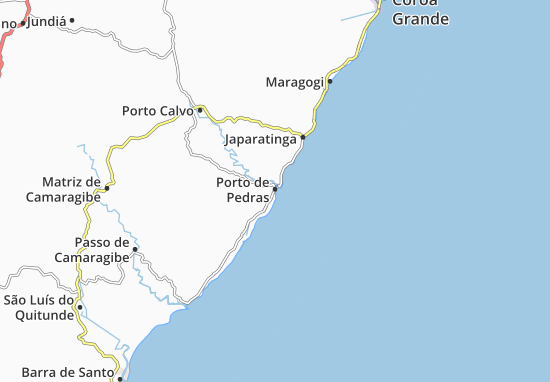 Carte-Plan Porto de Pedras