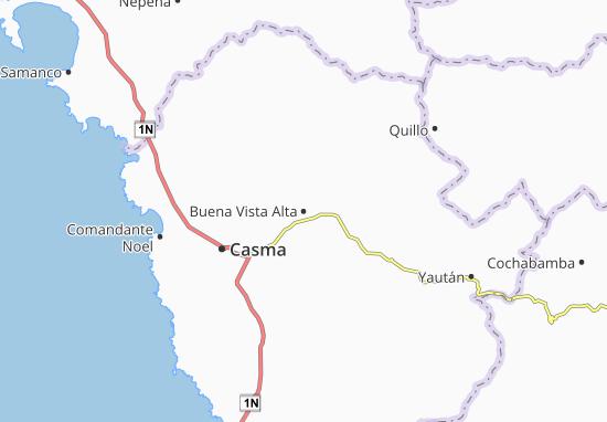 Kaart Plattegrond Buena Vista Alta