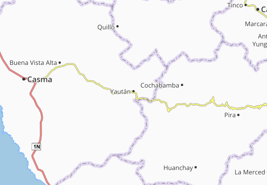 Kaart Plattegrond Yaután