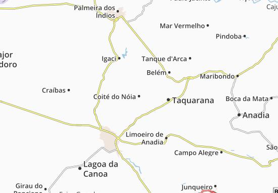 Coité do Nóia Map