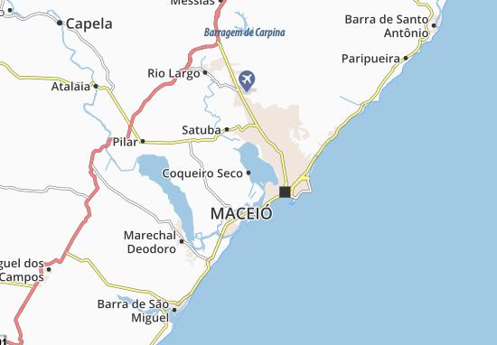 Coqueiro Seco Map