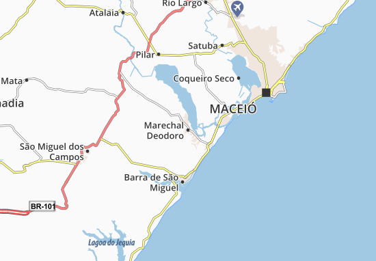 Marechal Deodoro Map