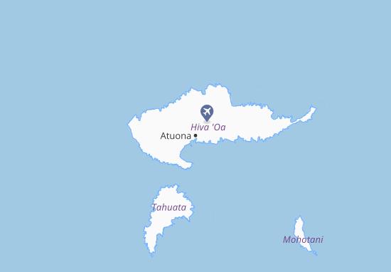 Mapa Plano Atuona