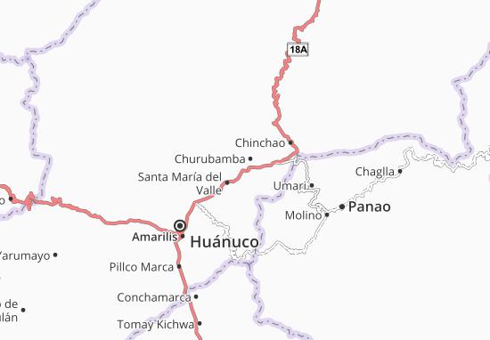 Kaart Plattegrond Churubamba