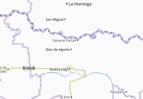 Diez de Agosto Map