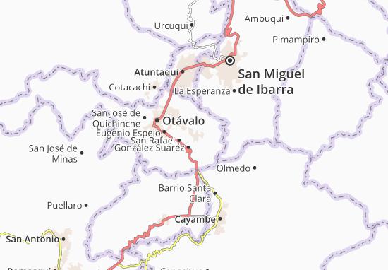 Karte Stadtplan San Pablo