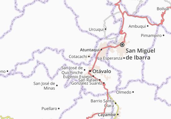 Kaart Plattegrond Quiroga