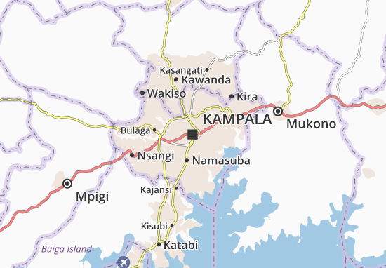 Mapa Plano Kampala