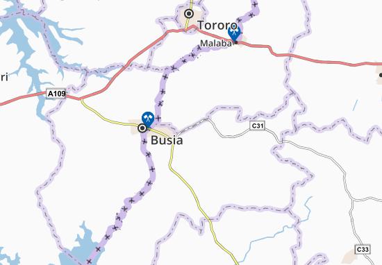 Kaart Plattegrond Bukhayo