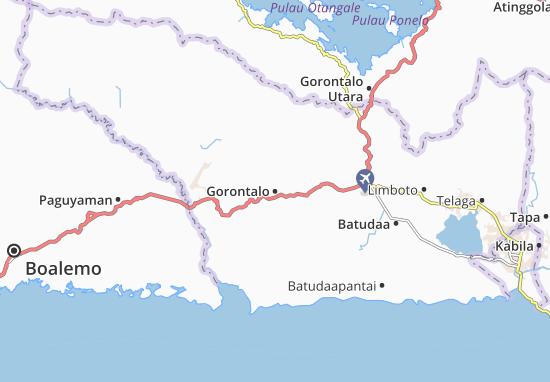 Carte-Plan Gorontalo