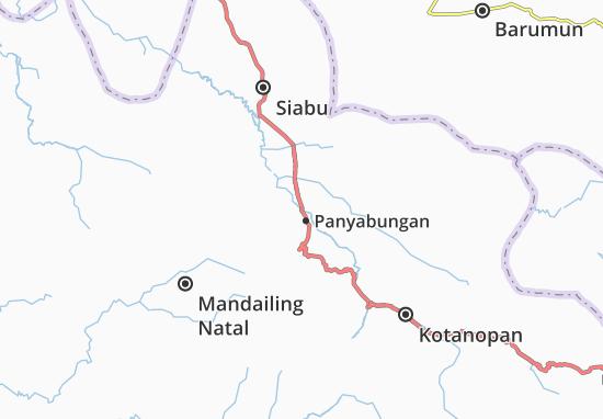 Kaart Plattegrond Panyabungan