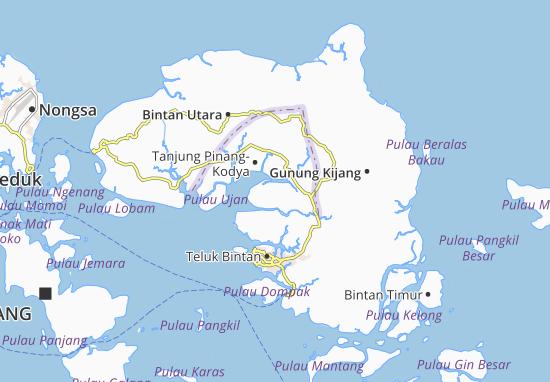 Tanjung Pinang Barat Map
