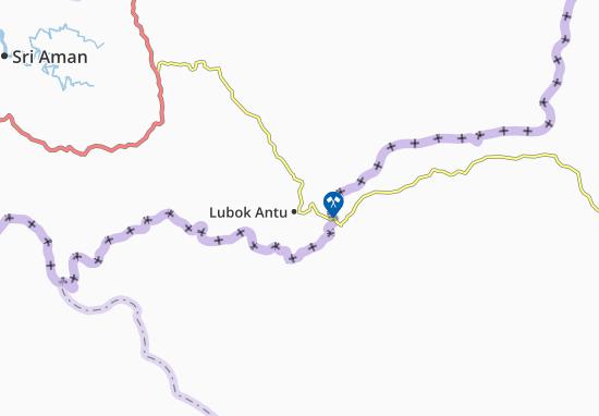Lubok Antu Map