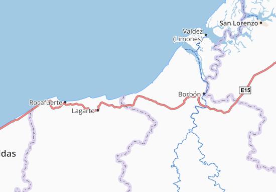 Las Peñas Map