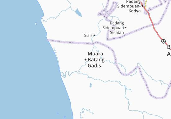 Muara Batang Gadis Map