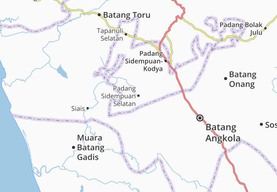 Carte-Plan Padang Sidempuan Selatan
