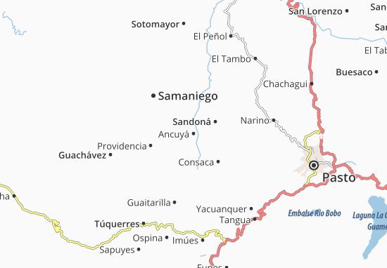 Kaart Plattegrond Ancuyá