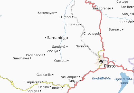 Carte-Plan Sandoná