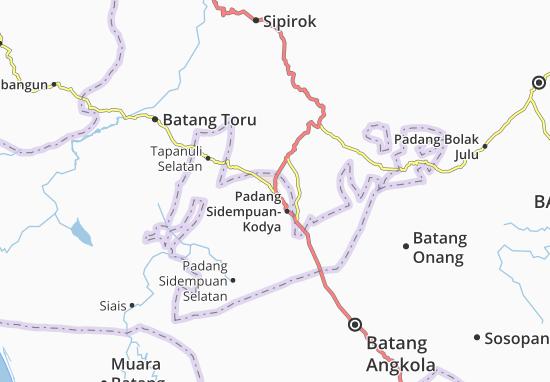 Carte-Plan Padang Sidempuan-Kodya
