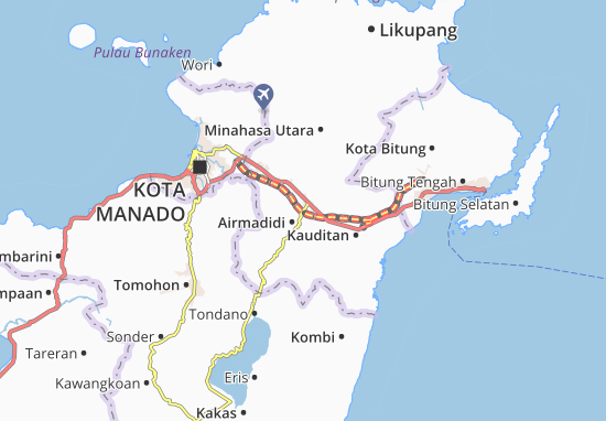 Carte-Plan Airmadidi