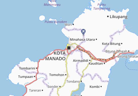 MICHELIN Manado map - ViaMichelin