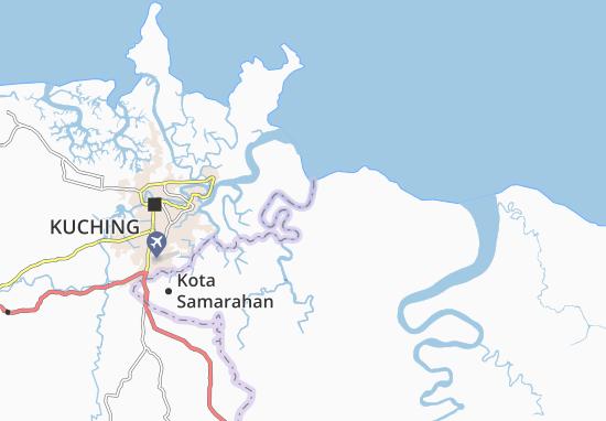 Map Of Kampung Tambirat Michelin Kampung Tambirat Map ViaMichelin - Kuching map