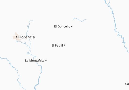 El Paujil Map