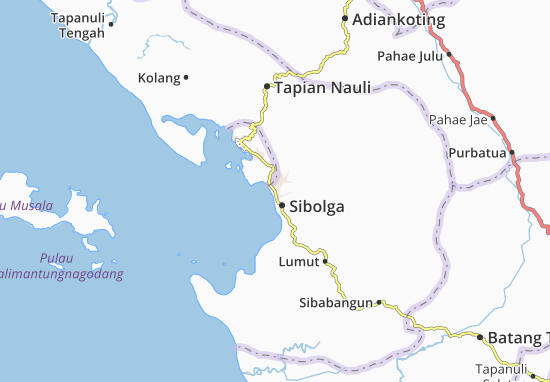 Cartina Indonesia Dettagliata.Mappa Michelin Sibolga Pinatina Di Sibolga Viamichelin