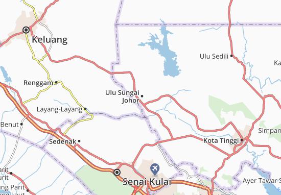 Ulu Sungai Johor Map